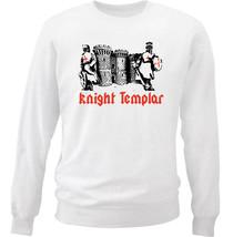 KNIGHT TEMPLAR CASTLE 7 - NEW WHITE COTTON SWEATSHIRT - $30.65