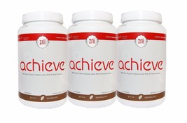 3bottle Zrii Achieve Chocolate Mix Soy Protein Isolate Weight Management... - $128.10