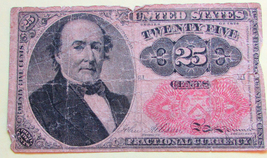 1874 Fifth Issue 25-Cent Fractional Currency Banknote - 328 - $28.00