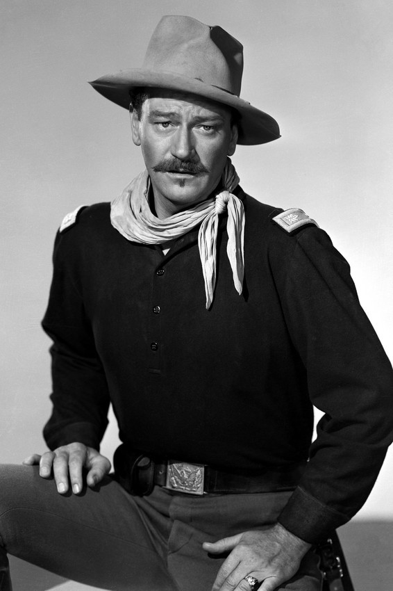 Primary image for John Wayne in Rio Grande classic studio portrait in Cavalry uniform 18x24 Poster
