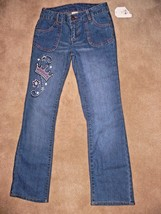Faded Glory Girls Jeans Denim Princess Crown Size 10 New ek - $7.99