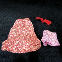 Skipper Flower Power 3 Piece Long Skirt Short Skirt Belt 1972 Vintage Cl... - $19.99