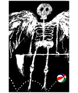 2043 B & W skeleton with wings, beach ball quality Poster.Wall Decorativ... - $10.44+