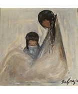 """Ted DeGrazia Navajo Mother Signed Reproduction Print Framed 26.5 X 26.5"""" - $178.19"""