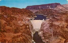 Chrome Postcard Nevada H551 Hoover Dam Highest Dam in the World Arizona  - $6.00