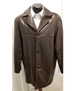 Andrew Marc Brown Leather Jacket, Size Medium - $149.00