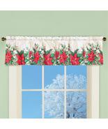 Poinsettia Bloom Window Valance Curtain - $19.91