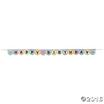 """Owl You're A Hoot Birthday Cardboard Jointed Banner -  54 1/4"""" Long - $6.64"""