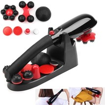 5 Speed Cordless Percussion Massager Handheld Full Body Massage Stick Ro... - $56.99