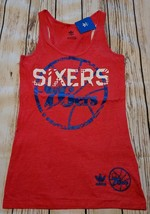 LZ Adidas Women's Small Philadelphia 76ers NBA Racerback Tank Top Shirt ... - $13.99