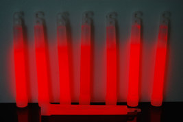 Set of 6 Red Jumbo 6 Inch 12 Hour Safety Glow Sticks - $8.50