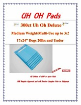 600ct 17X24 3x Deluxe Puppy Piddle Pads Puppy Training Pee Wee Pads FREE SAMPLES - $84.75