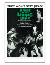 NIGHT OF THE LIVING DEAD - ONE SHEET MOVIE POSTER - 24x36 CLASSIC HORROR  - $25.00