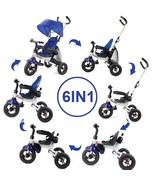 6-In-1 Kids Baby Stroller Tricycle Detachable Learning Toy Bike-Blue - $178.52