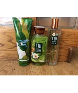 Set of 3 Bath & Body Works Fiji Pineapple Palm Shower Gel Body Cream Spr... - $34.98