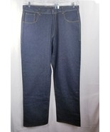 Evisu Mens Jeans Dark Wash Relaxed Leg Sz 42 Button Fly - $29.97
