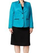 Tahari By Asl New Womens Blue Colorblock Skirt Suit  Plus   16W    $320 - $177.21