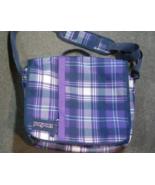 Purple Plaid JanSport Shoulder Bag - $5.00