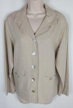 Talbots Linen blend jacket Beige Womens Size S - $5.89