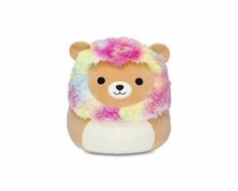 Squishmallow Kellytoy 5 Inch Leonard The Rainbow Mane Lion Super Soft Pl... - $10.34