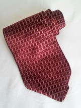 NEO Bill Blass 100% Italian Silk Mens Tie Necktie Red Gold Mini Bowtie - $7.87