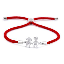 OCESRIO Korean Couple Bracelet Femme Zircon Red String Charm Bracelets f... - $8.95