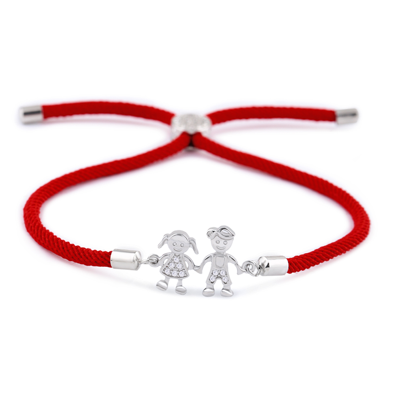Primary image for OCESRIO Korean Couple Bracelet Femme Zircon Red String Charm Bracelets for Coupl