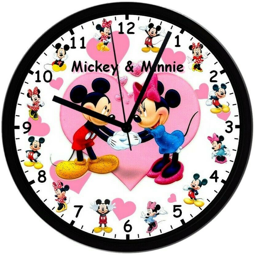 Primary image for Mickey & Minnie! Exclusive 8in. Unique Homemade Wall Clock, Battery Included