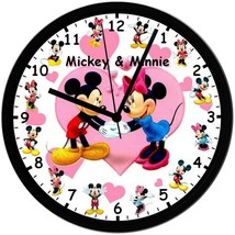 Mickey & Minnie! Exclusive 8in. Unique Homemade Wall Clock, Battery Incl... - $23.97