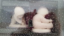 """2 PC SET SNOWBABIES WINTER TALES DEPT 56 """"I CAN TOUCH MY TOES"""" 3"""" #68927 - $9.89"""