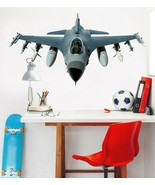3D Fighter Plane T293 Car Wallpaper Mural Poster Transport Wall Stickers... - $29.65+