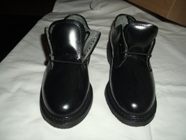 BATES WOMEN'S BLACK LEATHER DRESS OXFORDS, SIZE 4W, MADE IN USA - $19.80