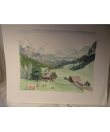 Art Print Mountain Meadows by Audrey McCrea 8 x 10 inches Signed - $12.49