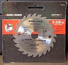 """Black & Decker BDA8324 Matrix 3-3/8"""" x 24 Carbide Teeth Wood Cutting Saw Blade - $6.44"""