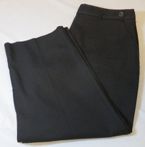 Womens women's Talbots stretch capri pants 12 black 219224-78 NEW NWT - $38.11