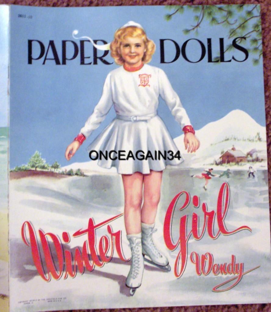 VINTAGE UNCUT ORIGINAL SIZE 1952 LOOK-ALIKE MOTHER DAUGHTER PAPER DOLLS~#1 REPRO