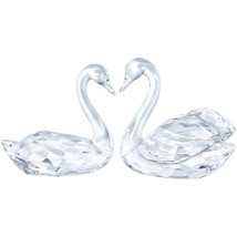 Authentic Swarovski Swan Couple Crystal Figurines - $303.88
