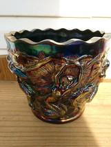 RARE Fenton / VERYLS Amethyst Carnival Glass Mermaid Jardinere Vase - $251.46