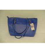 Michael kors handbag jet set chain item tote oxford blue leather ns MSR ... - $168.25