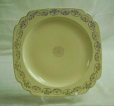 """Old Vintage Homer Laughlin 8-3/4"""" Square Salad Plate Floral Designs USA - $14.84"""