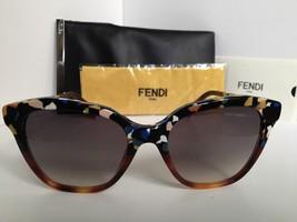 New FENDI FF 0089/S CUA9C 52mm Black Tortoise Mix Women's Sunglasses - $189.99