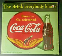 Vintage Original 2005 Coca-Cola 15 Month Wall Calendar New Sealed Collectible - $22.99