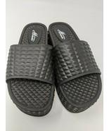 Mulanka Women's Platform Black Slide Sandals, Size (37), U.S. Size (6.5) - $29.69