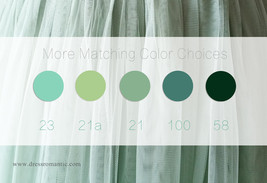 SAGE GREEN Long Maxi Tulle Skirt Full Length Sage Green Wedding Bridesmaid Skirt image 7