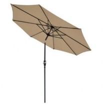 9' Aluminum Outdoor Patio Umbrella Tilt Crank Sun Shade Tawny - $56.42