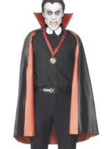 PVC Reversible Vampire Cape,Black and Red, One Size,Halloween Fancy Dres... - £8.93 GBP