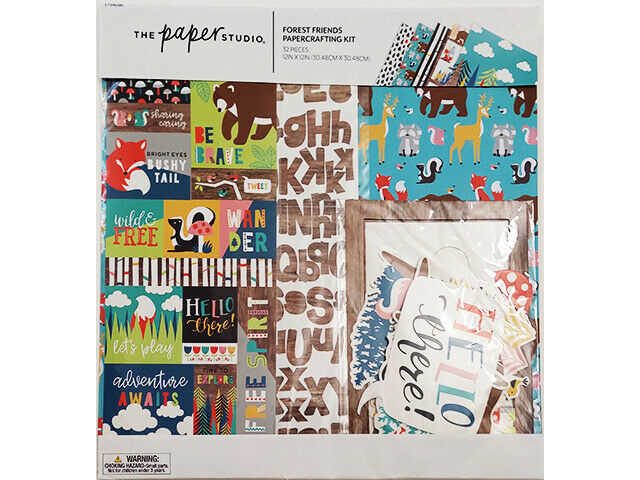 The Paper Studio Forest Friends Papercrafting Kit, Scrapbooking #1754290