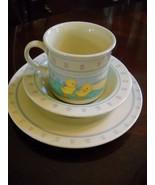 1984 Hallmark Baby Heirloom Vintage 3 Piece Cup Bowl Plate Set Lamb Rabb... - $15.68