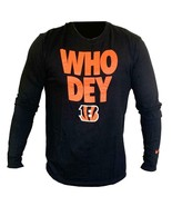 "Nike Dri Fit Men's Cincinnati Bengals ""Who Dey"" NFL Long Sleeve T-Shirt ... - $19.99"