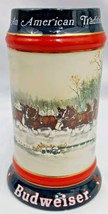 1990 Budweiser Beer Stein An American Tradition Clydesdale Horses Wagon Sampson - $18.46